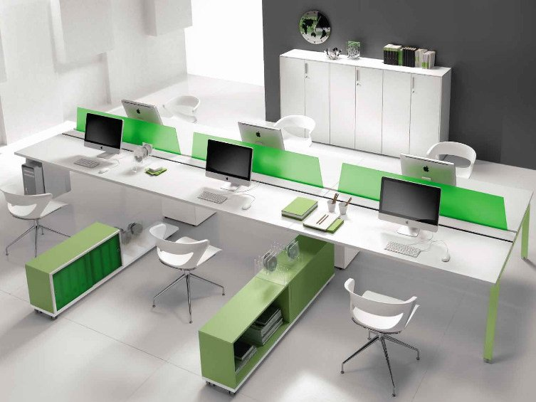 Multiple wooden office workstation ATREO   Multiple office workstation by Castellani.it