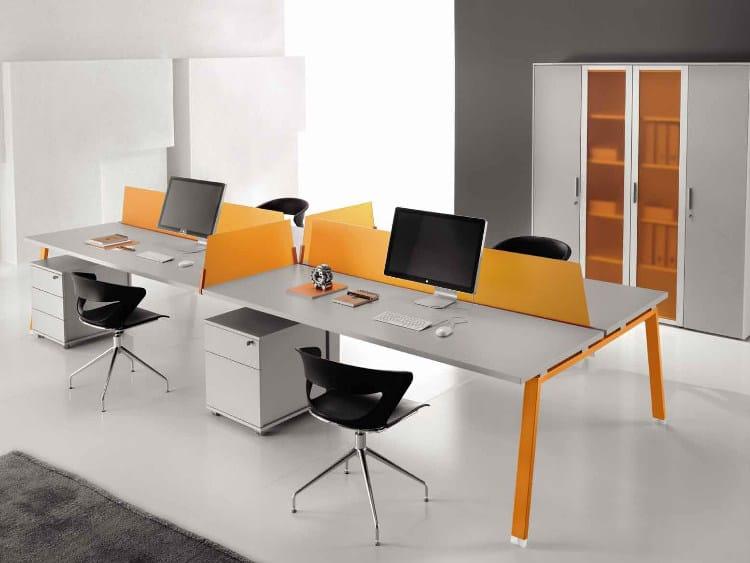 Postazione di lavoro multipla in legno ATREO | Postazione di lavoro multipla by Castellani.it