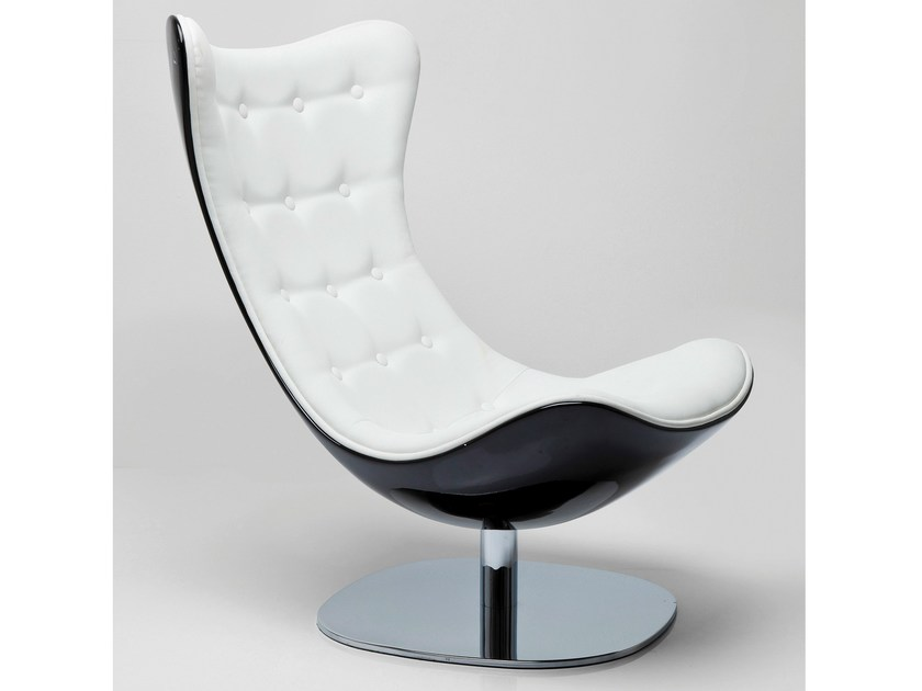 Contemporary style swivel armchair ATRIO DELUXE by KARE-DESIGN