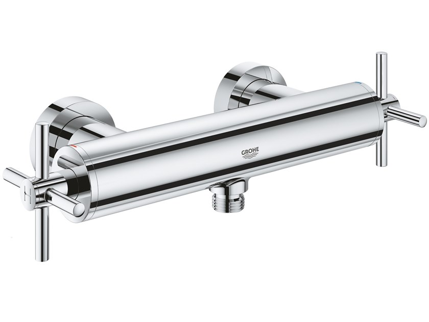 2 hole external shower tap with individual rosettes ATRIO NEW | Shower tap with individual rosettes by Grohe
