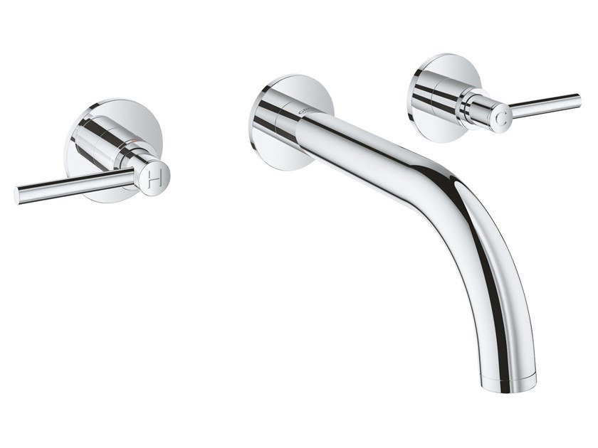 3 hole wall-mounted washbasin tap with individual rosettes ATRIO NEW - SIZE S | 3 hole washbasin tap by Grohe