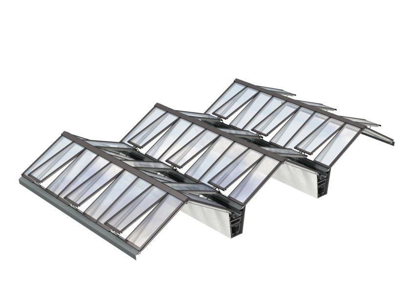 Glass and steel roof window ATRIUM by Velux Modular Skylights