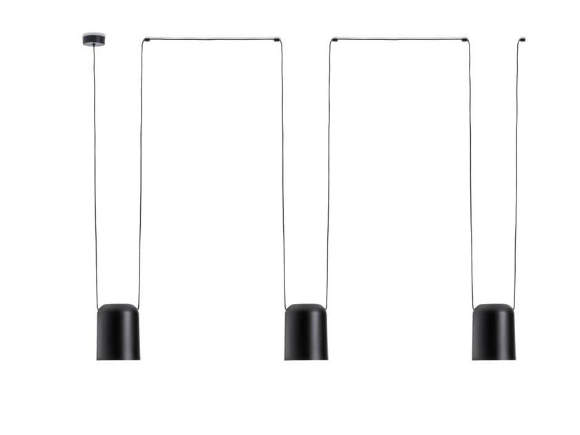 Aluminium pendant lamp ATTIC 00-7400 by LEDS C4