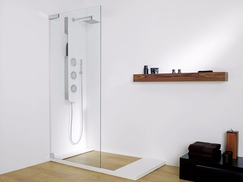Tempered glass Shower wall panel ATTICA 1 by Systempool