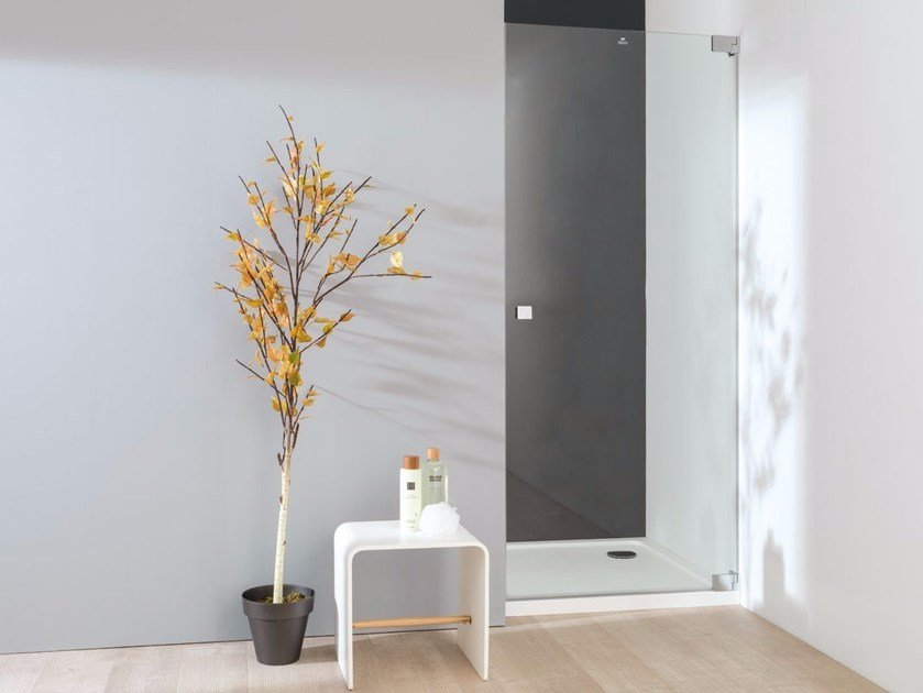 Glass shower cabin with hinged door ATTICA 2 by Systempool