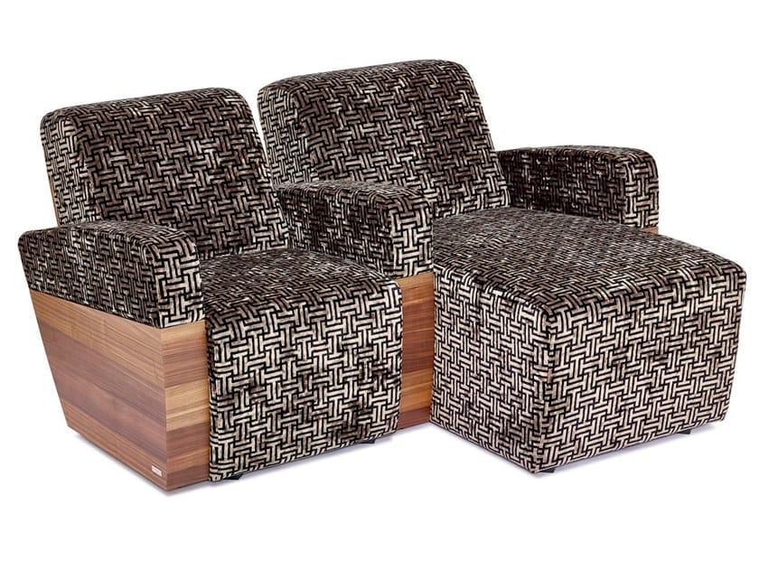 Sectional microfiber Cinema armchair with chaise longue MONACO | Sectional Cinema armchair by moovia