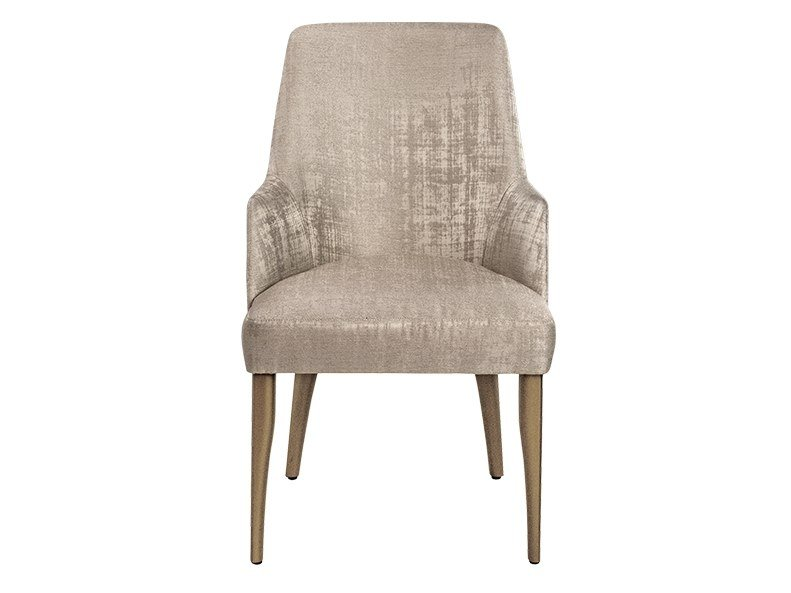 Velvet chair with armrests AUDREY   Chair with armrests by Paolo Castelli