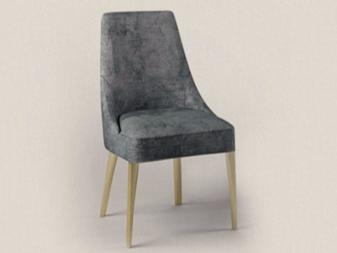 Upholstered fabric chair AUDREY by Paolo Castelli