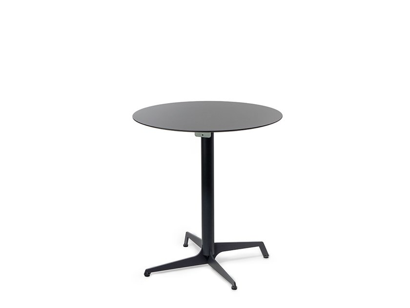 Round drop-leaf HPL table AUDREY | Table by Lyxo Design