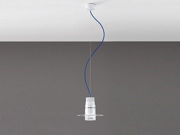 Lampada a sospensione in vetro borosilicato metallizzato AUF TUBA by Cangini & Tucci