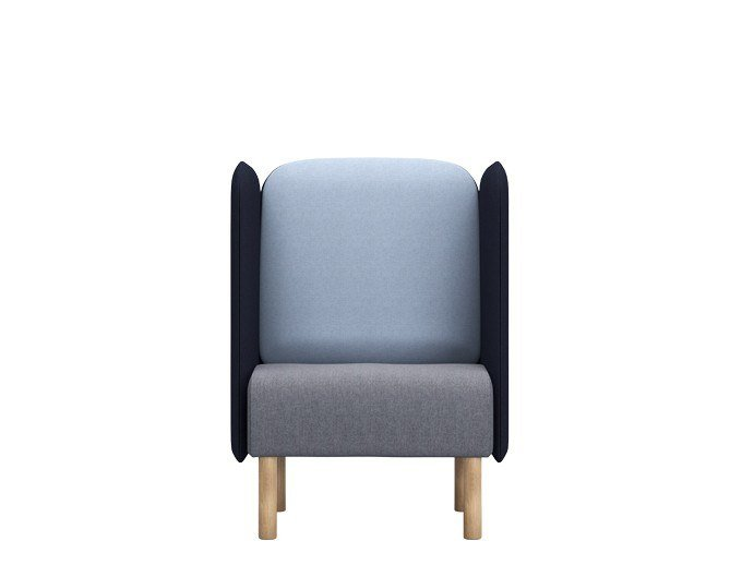 Fabric armchair with fire retardant padding AUGUST | Armchair by SOFTREND