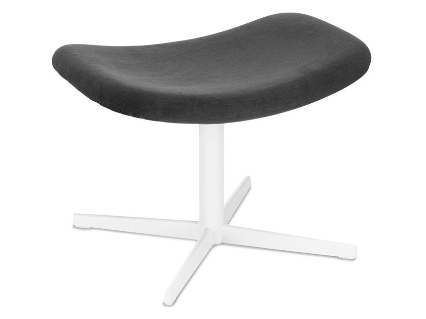 Fabric footstool with 4-spoke base AUKI   Footstool with 4-spoke base by Lapalma