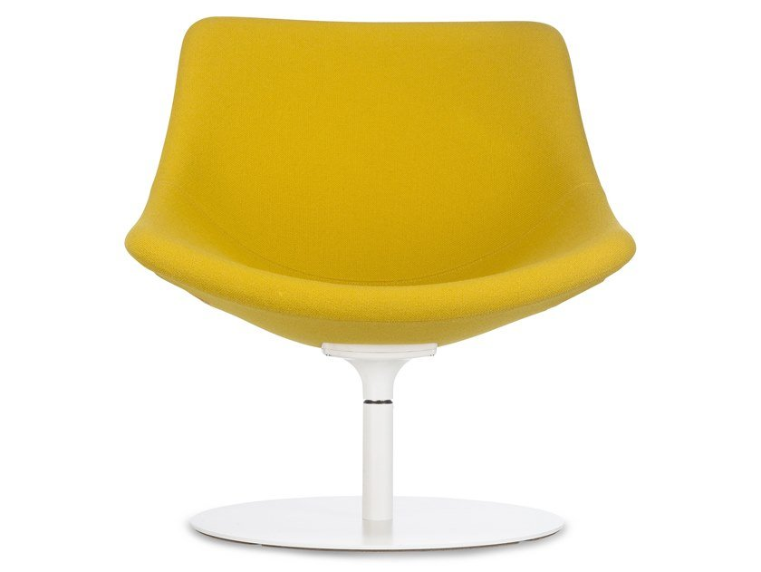 Swivel upholstered fabric easy chair AUKI | Swivel easy chair by Lapalma