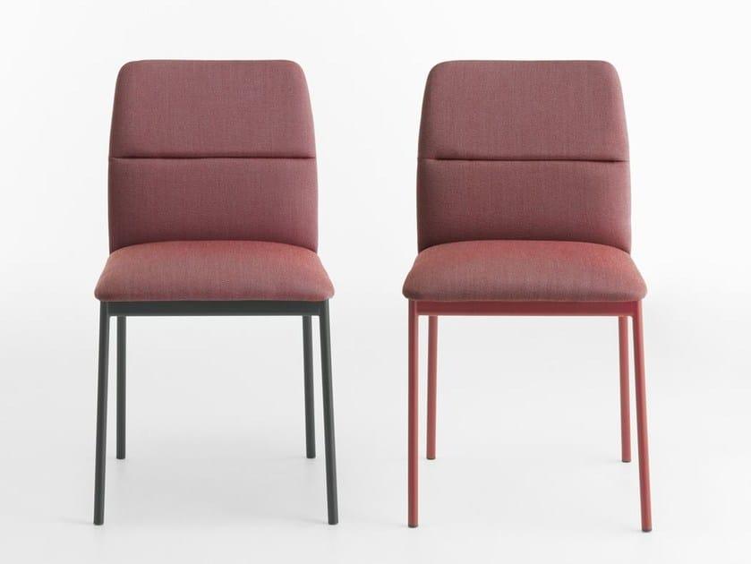 Fabric chair AURA | Chair by Crassevig