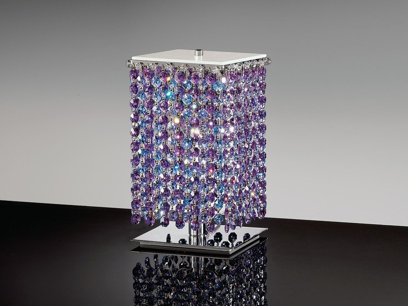 Direct light table lamp with Swarovski® crystals AUREA | Table lamp by Masiero