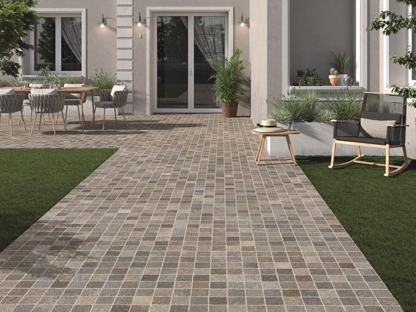 Outdoor floor tiles with stone effect AURELIA by Ceramica Rondine