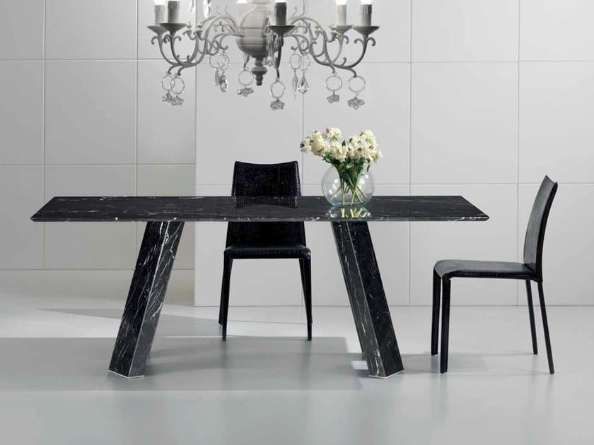 Rectangular Nero Marquina marble table AURELIO   Rectangular table by International Marmi