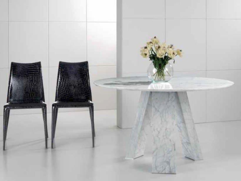 Round Carrara marble table AURELIO | Round table by International Marmi