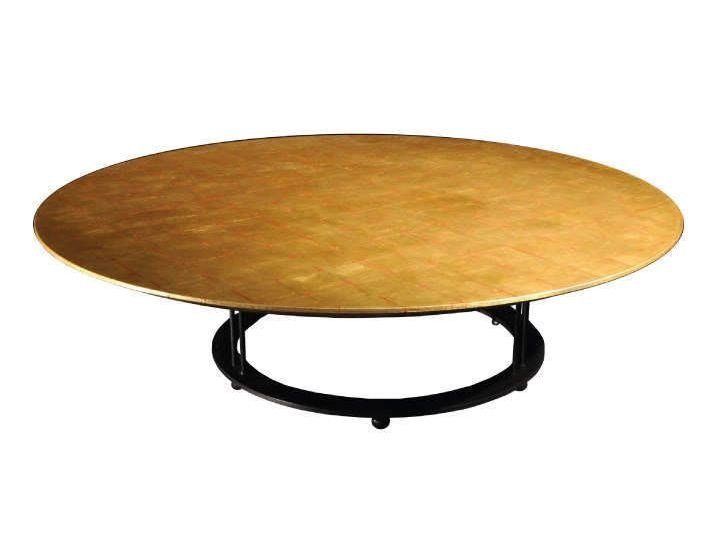 Low Round Gold Leaf Coffee Table For Living Room AUREOLA | Coffee Table For  Living Room