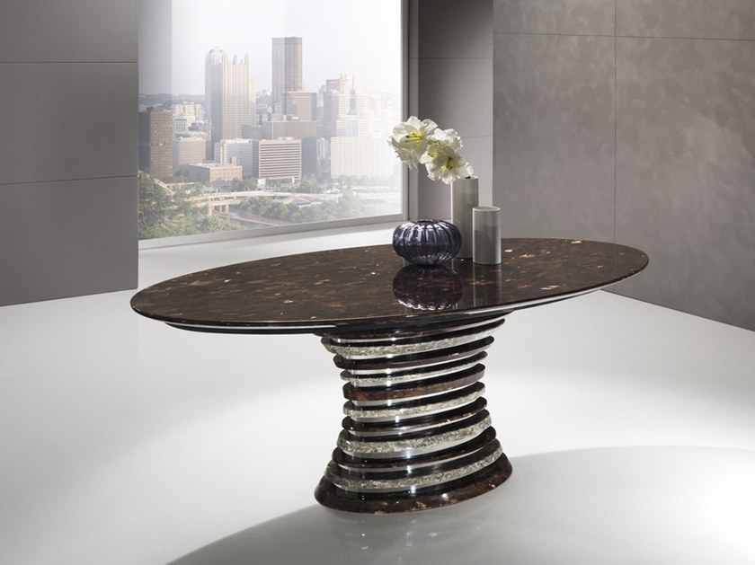 Oval Crystal Stone® table AURIGA | Oval table by Crystal Stone
