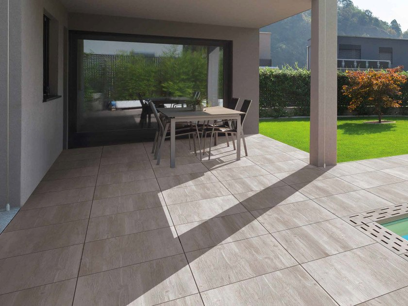 Porcelain stoneware outdoor floor tiles with wood effect AURIGA by RECORD - BAGATTINI