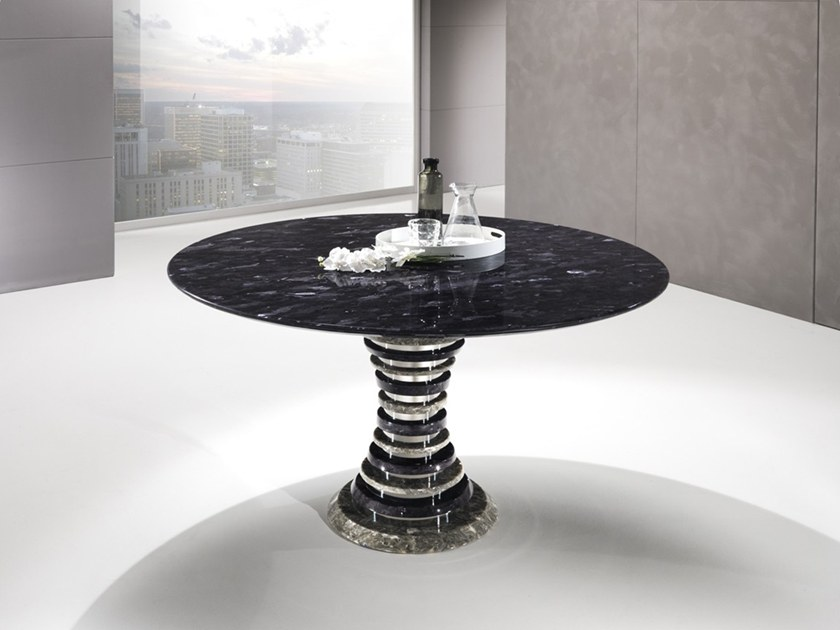 Round Crystal Stone® table AURIGA | Round table by Crystal Stone