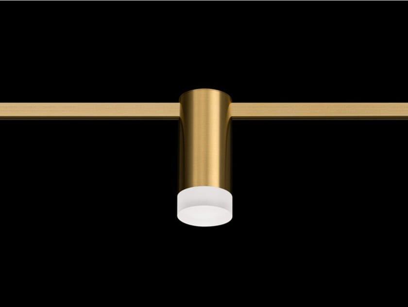 Illuminazione a binario a LED in ottone satinato AUR LOCUS by Centrsvet