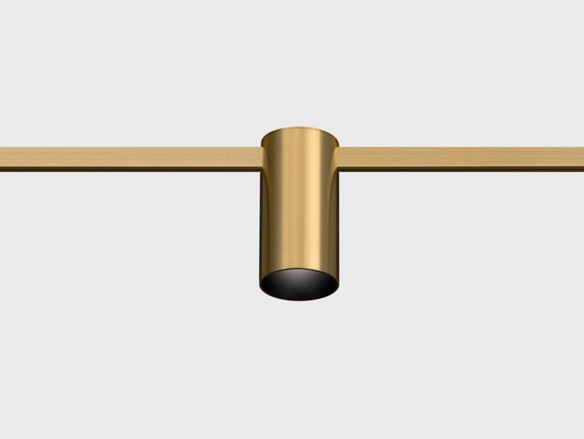 Illuminazione a binario a LED in ottone satinato AUROOM LOCUS by Centrsvet