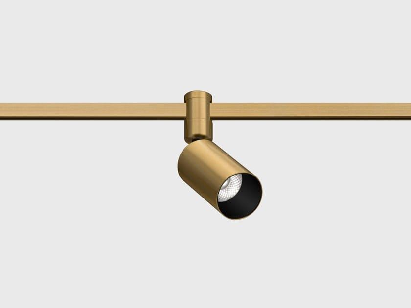 Illuminazione a binario a LED in ottone satinato AUROOM LOCUS TURN by Centrsvet