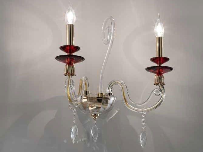 Applique in cristallo con cristalli Swarovski® AURORA A2 by Euroluce Lampadari