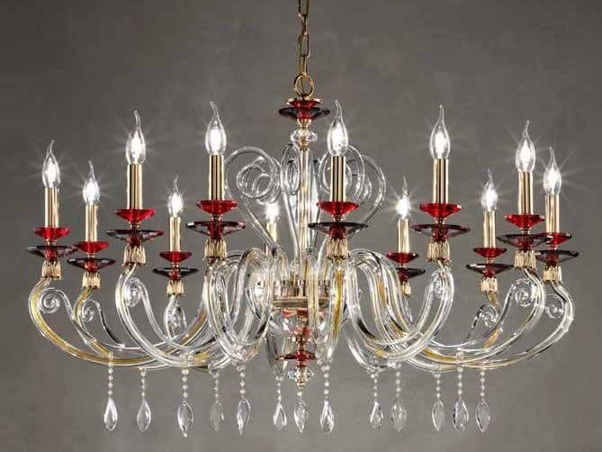 Crystal chandelier with Swarovski® Crystals AURORA L12 by Euroluce Lampadari
