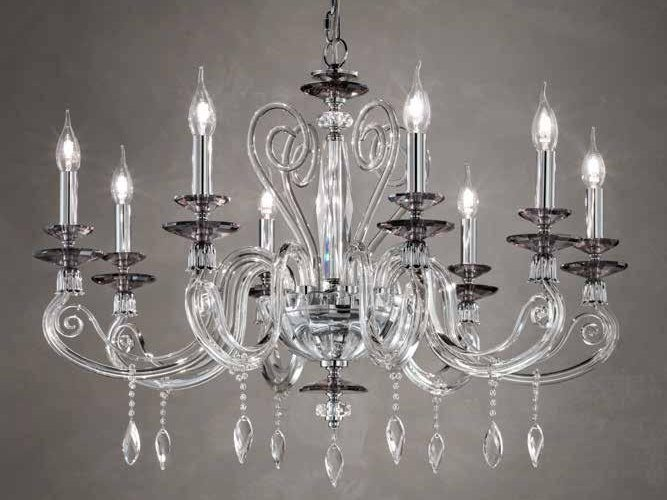 Crystal Chandelier With Swarovski Crystals Aurora L8 Aurora Collection By Euroluce Lampadari