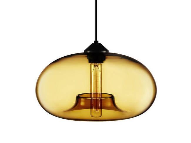 Direct light handmade blown glass pendant lamp AURORA by Niche Modern