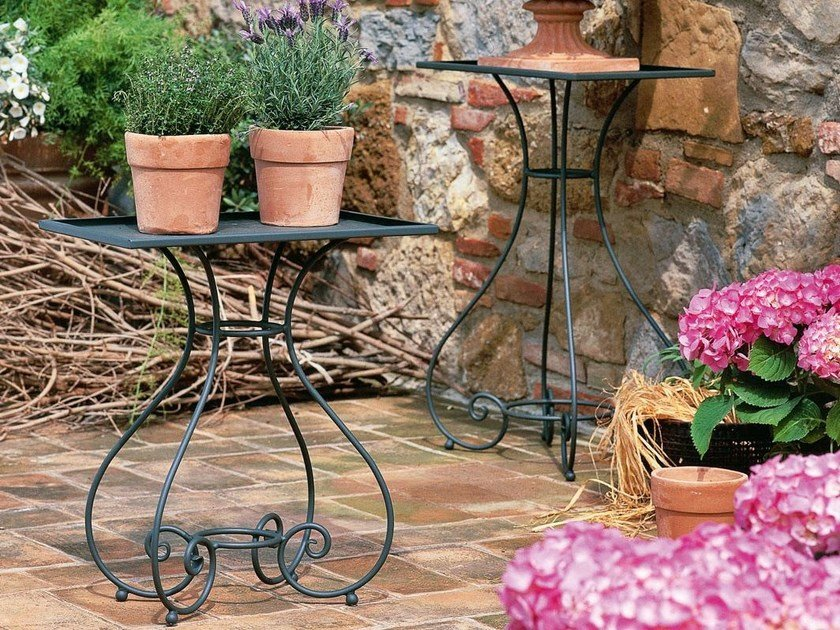 Iron high side table AURORA | Rectangular coffee table by Unopiù
