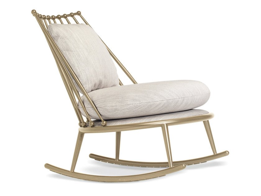 Rocking metal armchair AURORA | Rocking armchair by Cantori