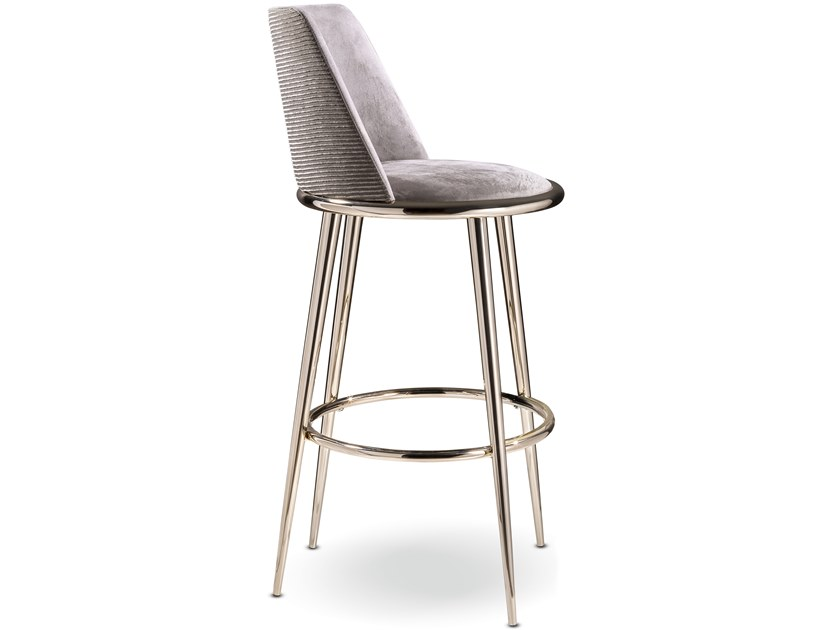 Fabric stool with back AURORA | Stool by Cantori