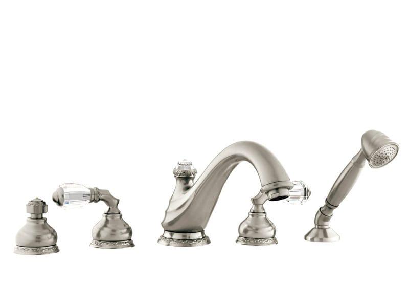 5 hole bathtub set with Swarovski® crystals AUSTRAL | Bathtub set with Swarovski® crystals by Bronces Mestre