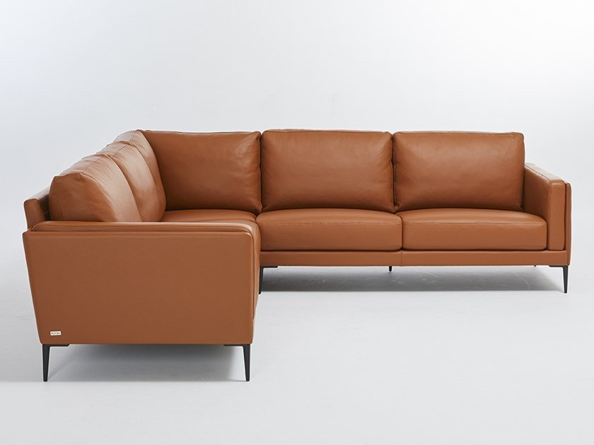 Corner leather sofa AUTEUIL ANGLE by Burov