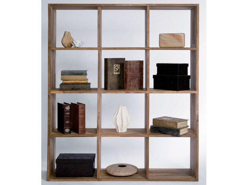 Open double-sided wooden bookcase AUTHENTICO 150 by KARE-DESIGN
