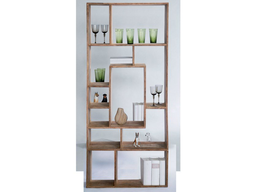 Open double-sided wooden bookcase AUTHENTICO MULTITASK 190 by KARE-DESIGN