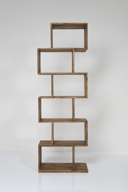 Open wooden bookcase AUTHENTICO ZICK ZACK 180 by KARE-DESIGN