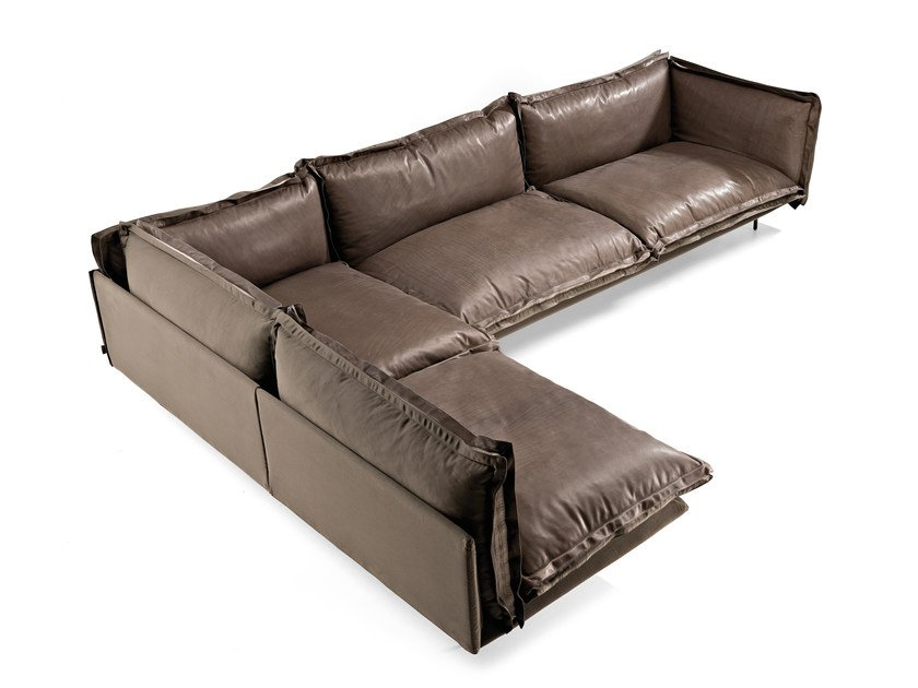 Sectional leather sofa AUTO-REVERSE | Sectional sofa by Arketipo