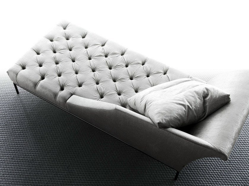 Upholstered fabric day bed AUTOGRAFO by ERBA ITALIA