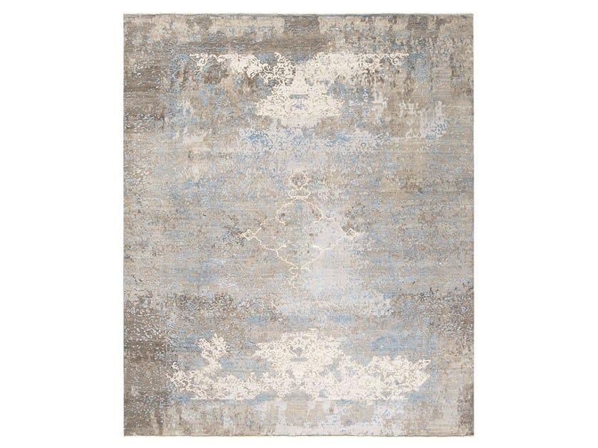 Handmade custom rug AUTUMN BROWN BLUE by Thibault Van Renne