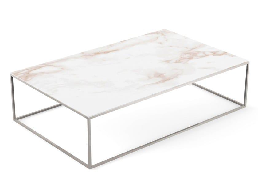 Low rectangular garden side table AUXILIAR | Rectangular coffee table by VONDOM
