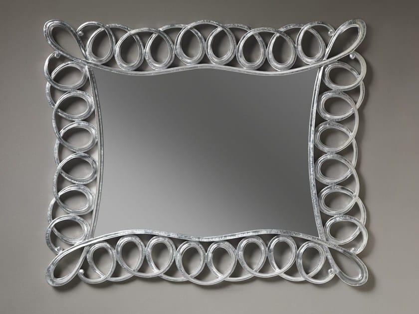 Rectangular wall-mounted framed mirror AVA by ariannasoldati