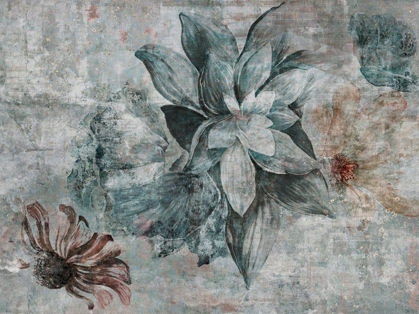 Carta da parati stampata in digitale con motivi floreali AVALON by Tecnografica