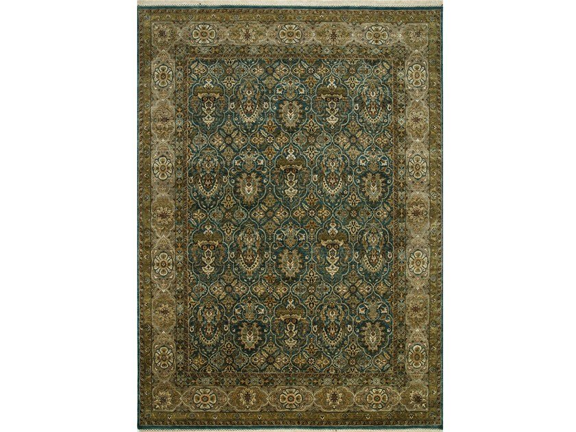 Tappeto fatto a mano AVALON SPR-41 Teal Blue/Gray Brown by Jaipur Rugs
