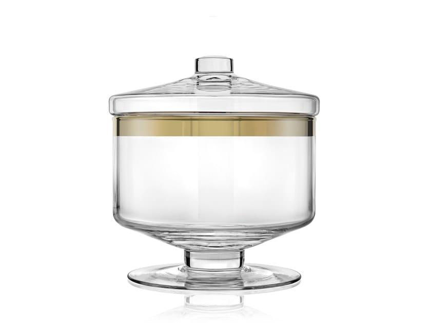 Contenitore per alimenti in vetro AVENUE GOLD 20,5CM by IVV