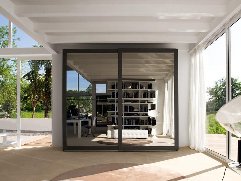 Wardrobe with sliding doors AVENUE | Mirrored wardrobe by Silenia